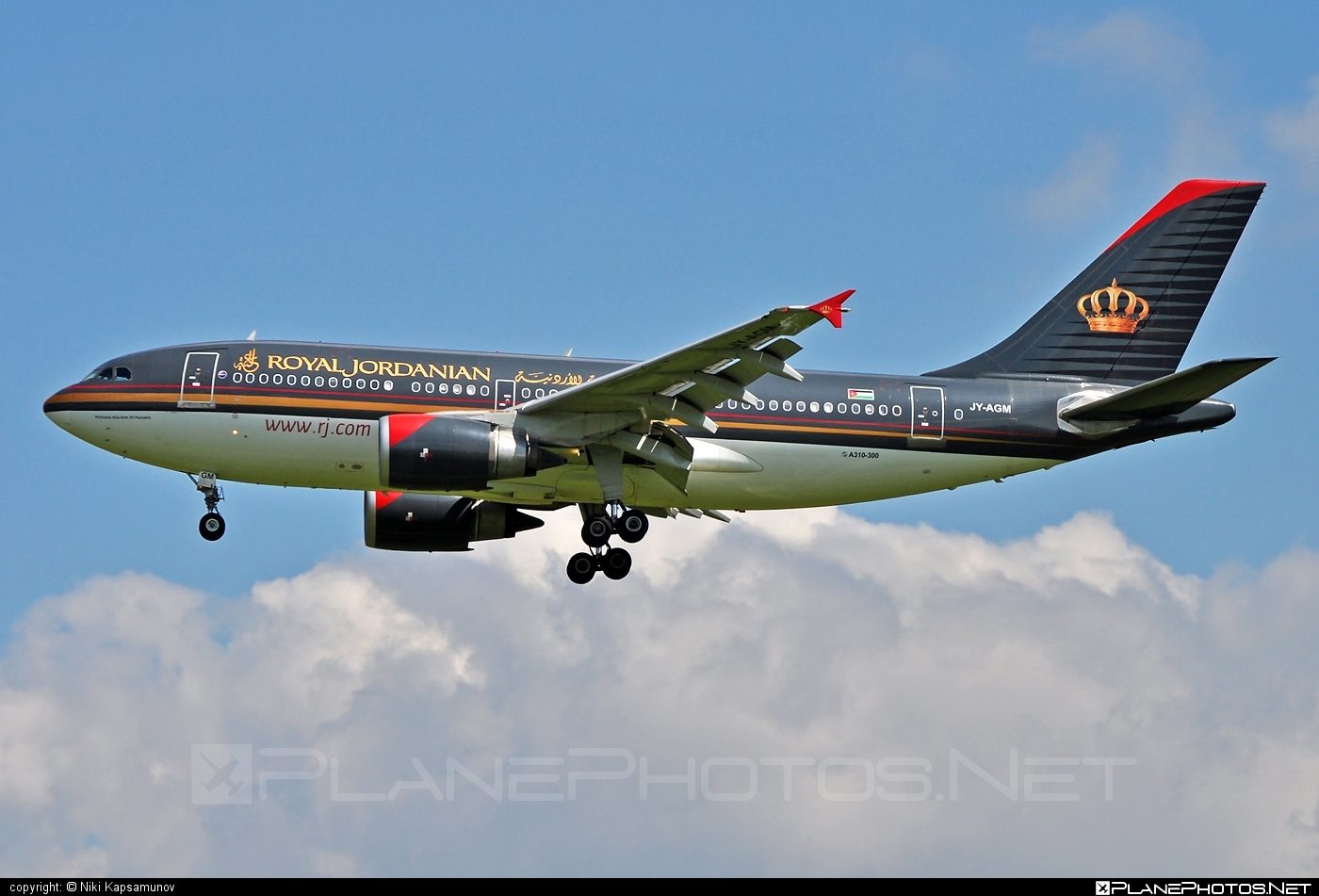 Airbus A310-304 - JY-AGM operated by Royal Jordanian #a310 #airbus