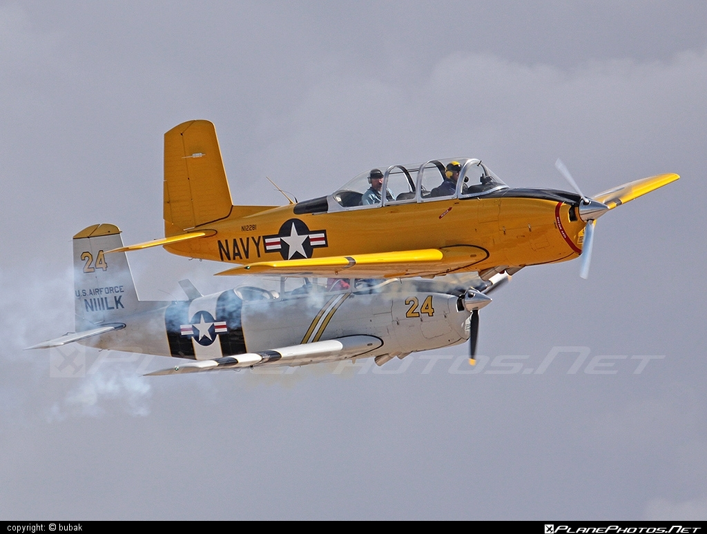 Beechcraft T-34A Mentor - N12281 operated by Private operator #beechcraft