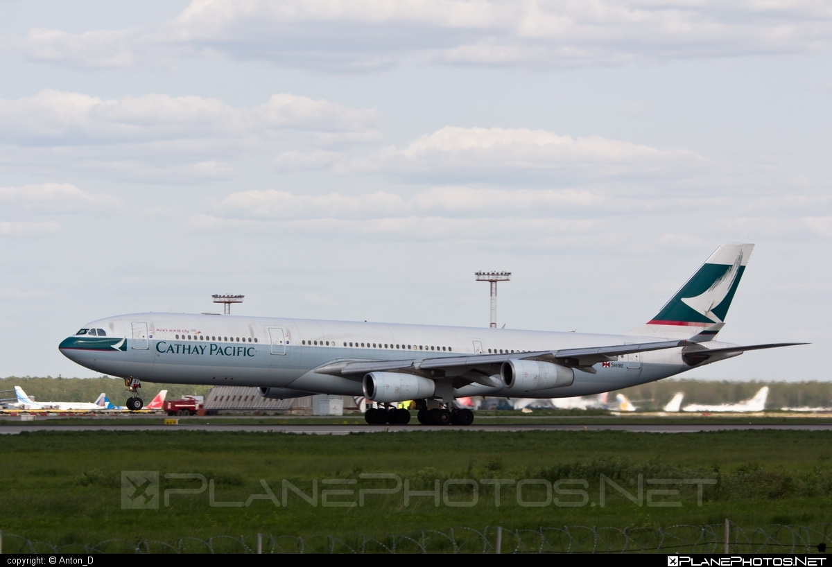 Airbus A340-313E - B-HXI operated by Cathay Pacific Airways #a340 #a340family #airbus #airbus340 #cathaypacific #cathaypacificairways