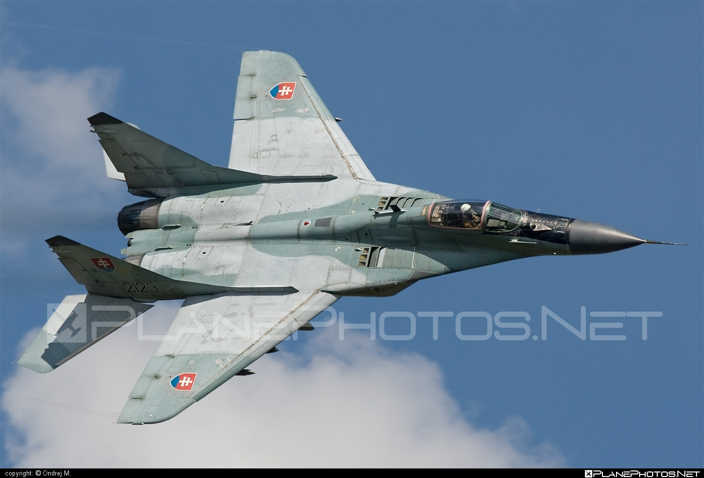 Mikoyan-Gurevich MiG-29AS - 2123 operated by Vzdušné sily OS SR (Slovak Air Force) #mig #mig29 #mig29as #mikoyangurevich #slovakairforce #vzdusnesilyossr
