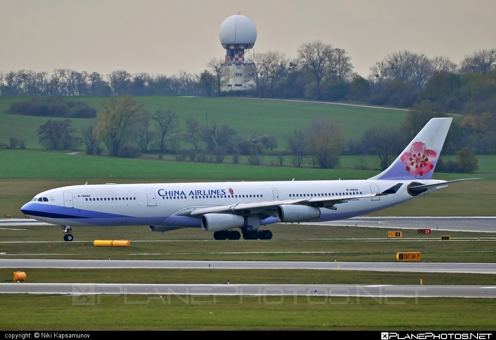 Airbus A340-313E - B-18805 operated by China Airlines #a340 #a340family #airbus #airbus340 #chinaairlines