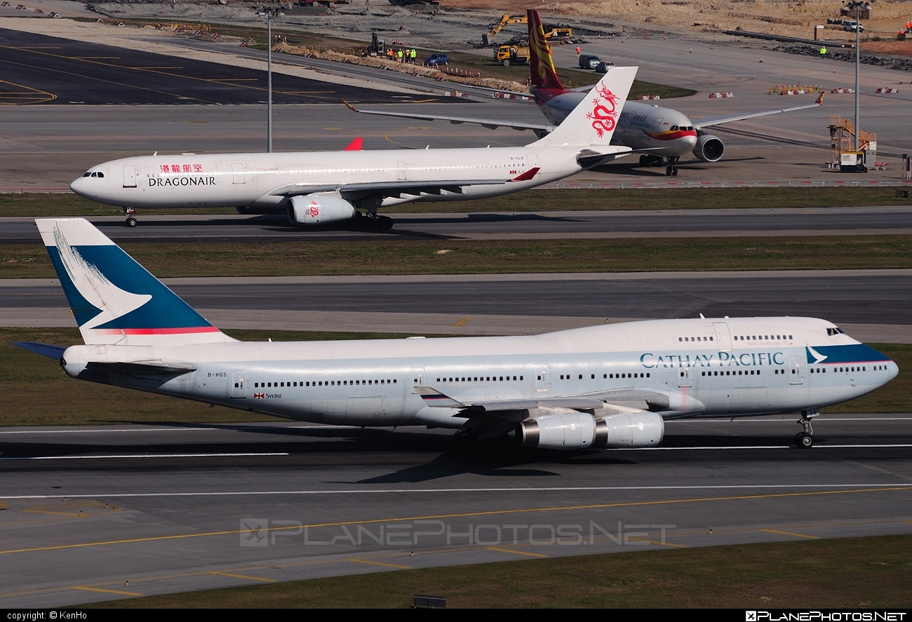 Boeing 747-400 - B-HOS operated by Cathay Pacific Airways #b747 #boeing #boeing747 #cathaypacific #cathaypacificairways #jumbo