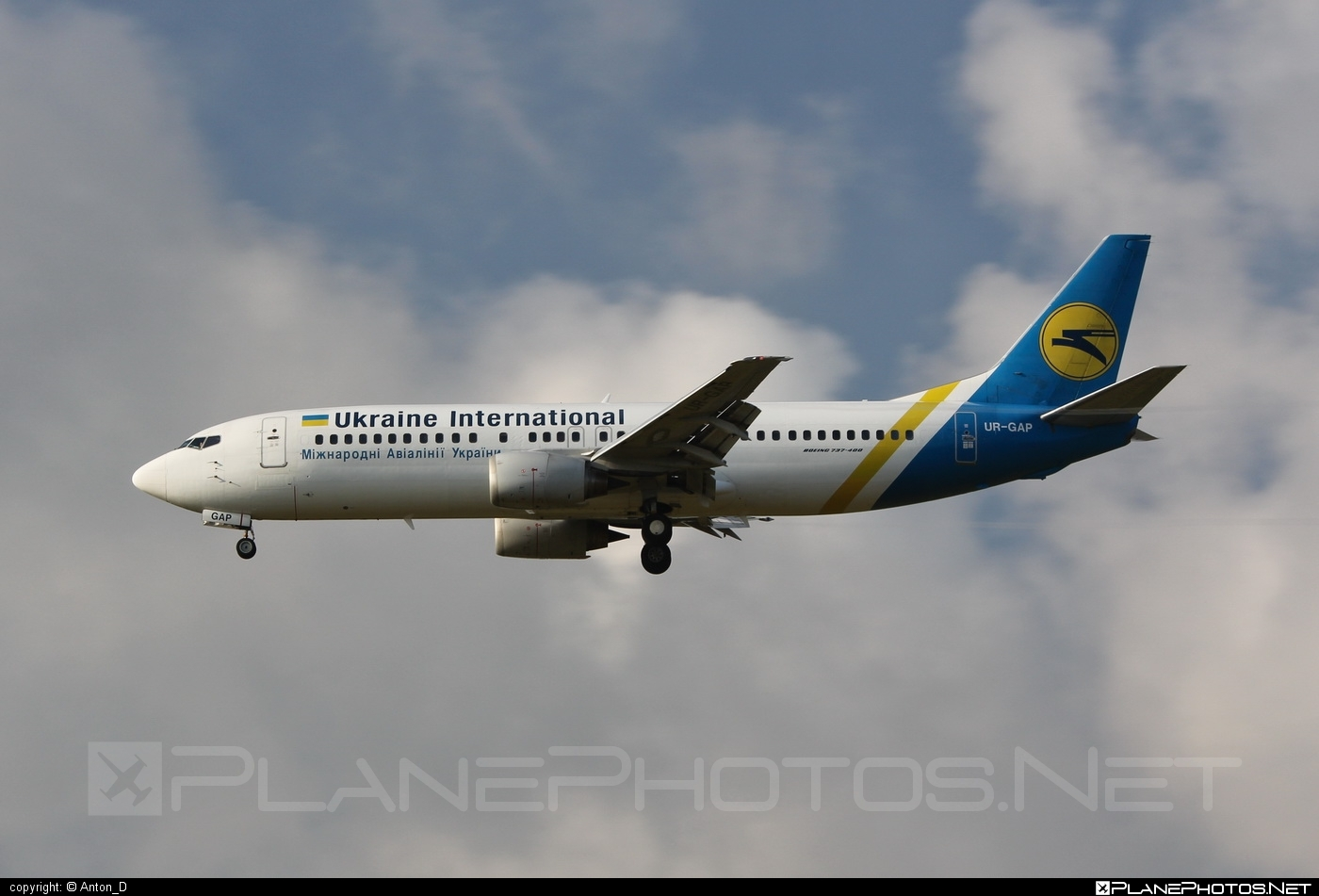 Ukraine International Airlines Boeing 737-400 - UR-GAP #b737 #boeing #boeing737 #uia #ukraineinternationalairlines
