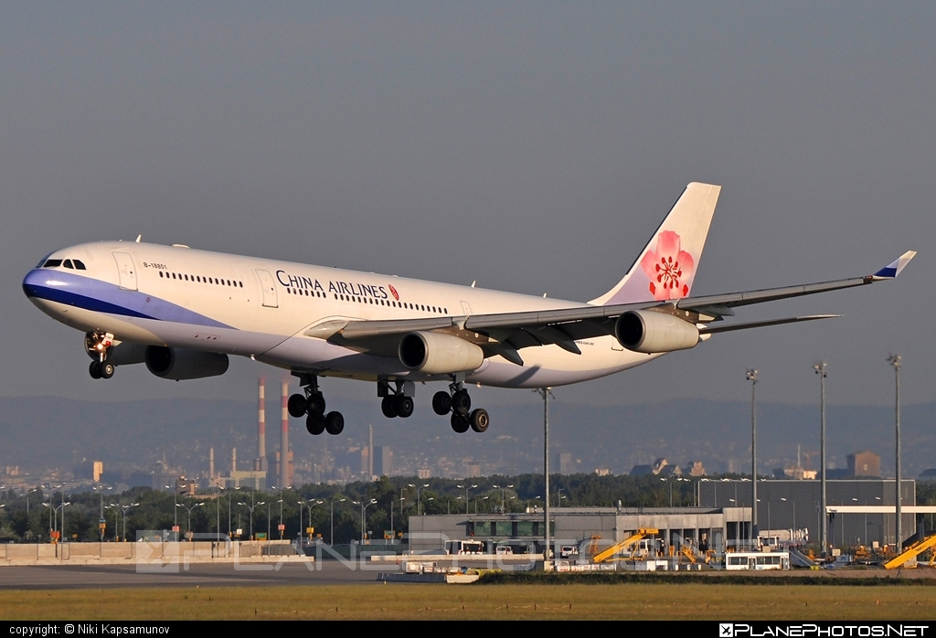Airbus A340-313E - B-18801 operated by China Airlines #a340 #a340family #airbus #airbus340 #chinaairlines