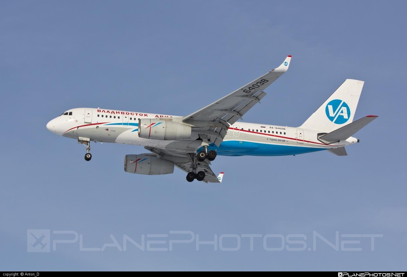 Tupolev Tu-204-300 - RA-64038 operated by Vladivostok Avia #tu204 #tu204300 #tupolev