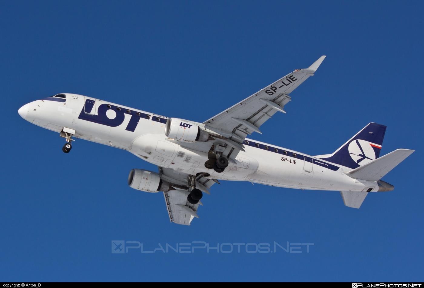 Embraer E175LR (ERJ-170-200LR) - SP-LIE operated by LOT Polish Airlines #e175 #embraer #embraer175 #embraer175lr #erj170200 #erj170200lr #erj175 #erj175lr #lot #lotpolishairlines