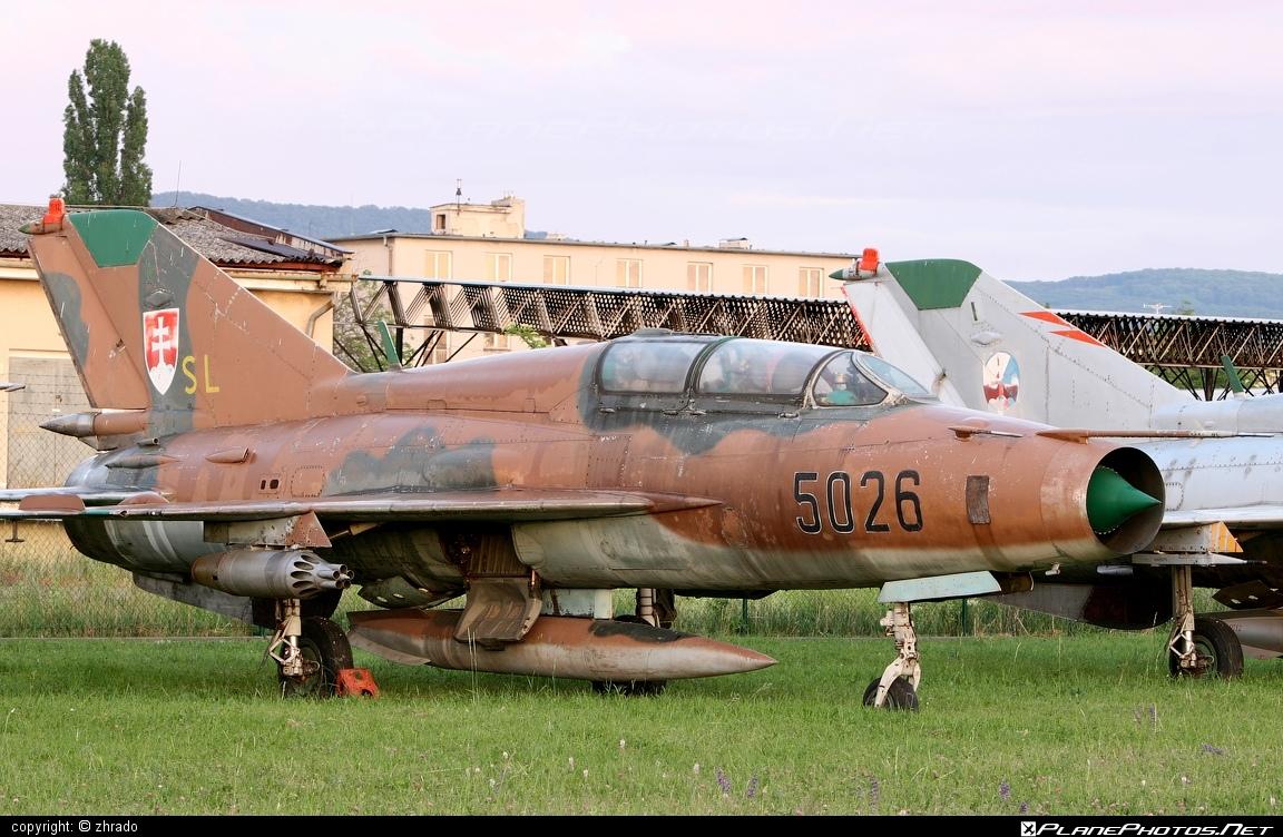 Mikoyan-Gurevich MiG-21UM - 5026 operated by Vzdušné sily OS SR (Slovak Air Force) #mig #mig21 #mig21um #mikoyangurevich #slovakairforce #vzdusnesilyossr