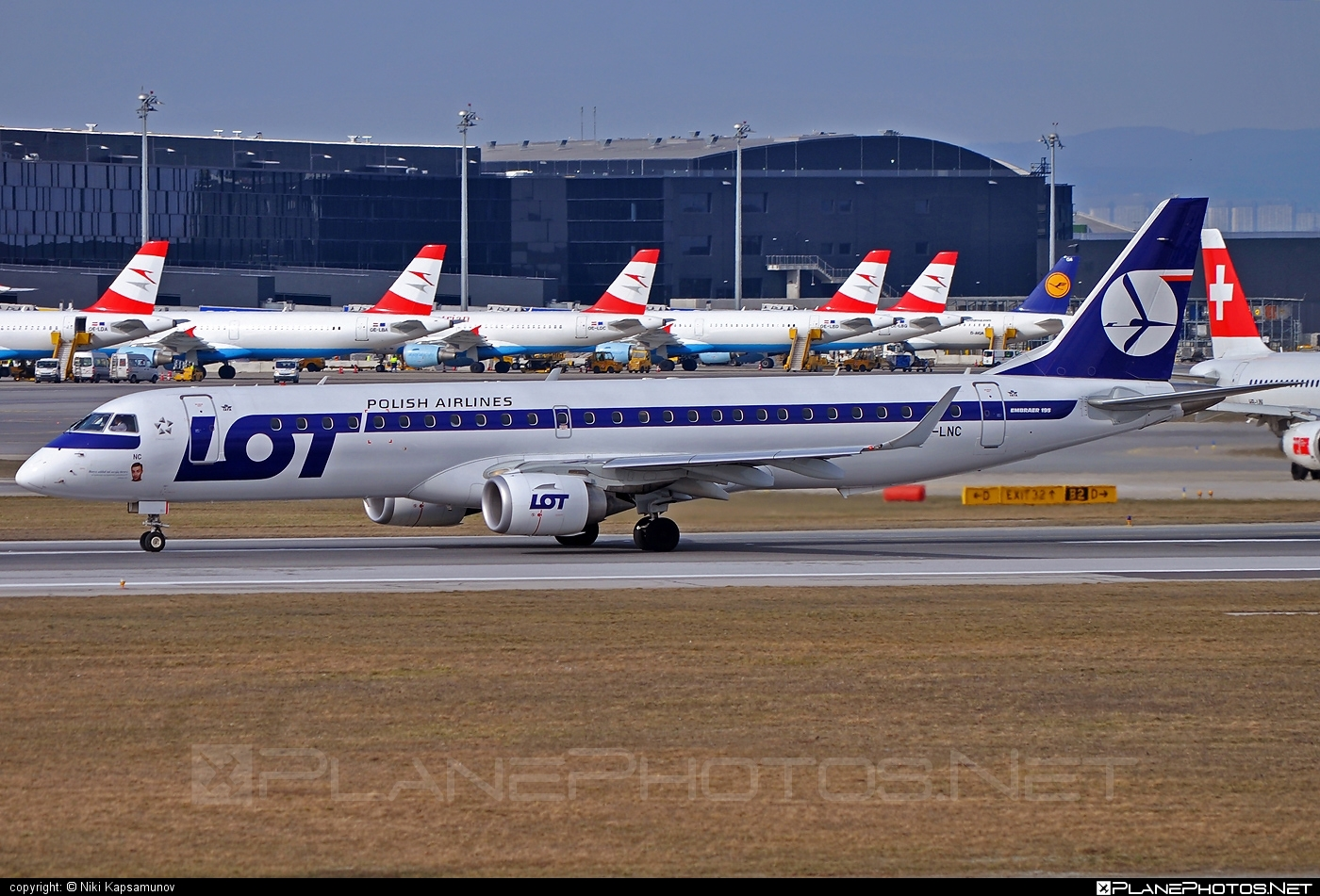Embraer E195LR (ERJ-190-200LR) - SP-LNC operated by LOT Polish Airlines #e190 #e190200 #e190200lr #e195lr #embraer #embraer190200lr #embraer195 #embraer195lr #lot #lotpolishairlines