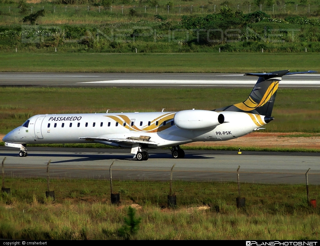 Embraer ERJ-145LU - PR-PSK operated by Passaredo Linhas Aéreos #embraer