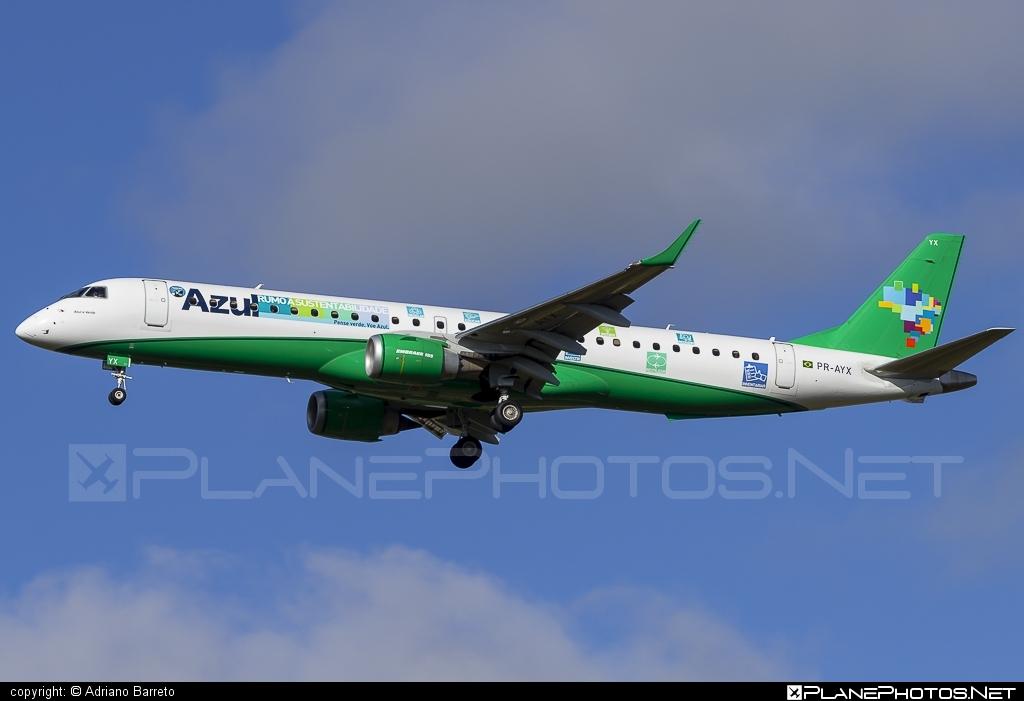 Embraer E195IGW (ERJ-190-200IGW) - PR-AYX operated by Azul Linhas Aéreas Brasileiras #e190 #e190200 #e190200igw #e195igw #embraer #embraer190200igw #embraer195 #embraer195igw