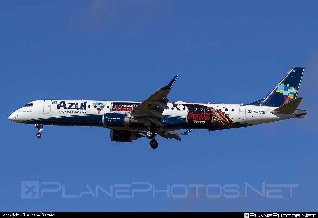 Embraer E195IGW (ERJ-190-200IGW) - PR-AXB operated by Azul Linhas Aéreas Brasileiras #e190 #e190200 #e190200igw #e195igw #embraer #embraer190200igw #embraer195 #embraer195igw