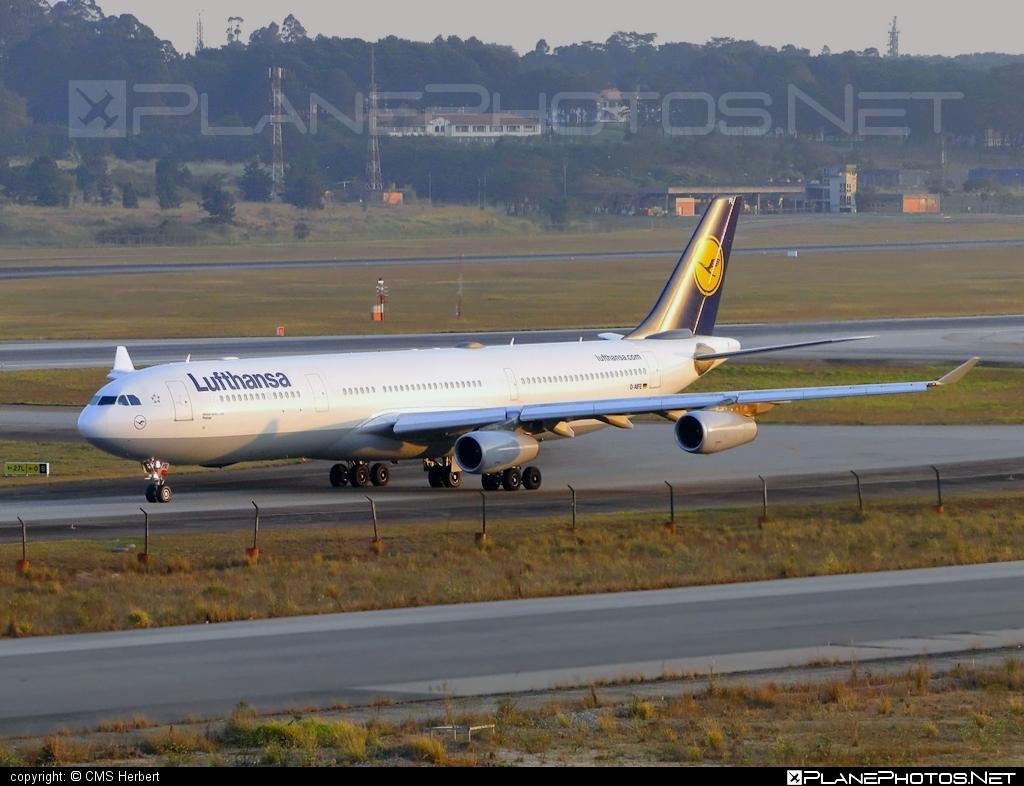 Airbus A340-313E - D-AIFE operated by Lufthansa #a340 #a340family #airbus #airbus340 #lufthansa