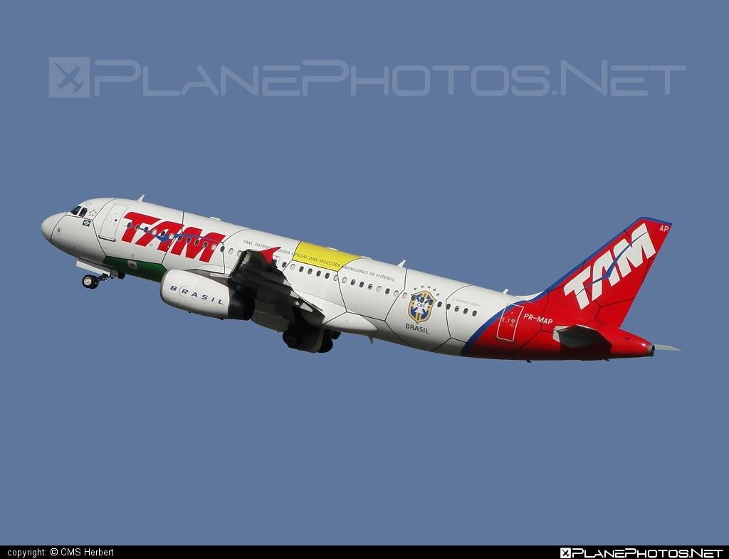 Airbus A320-232 - PR-MAP operated by TAM Linhas Aéreas #a320 #a320family #airbus #airbus320 #tam #tamairlines #tamlinhasaereas