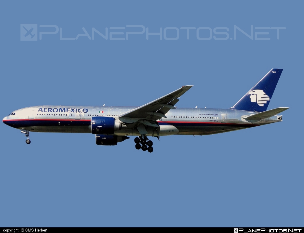 Boeing 777-200ER - N746AM operated by Aeroméxico #b777 #b777er #boeing #boeing777 #tripleseven
