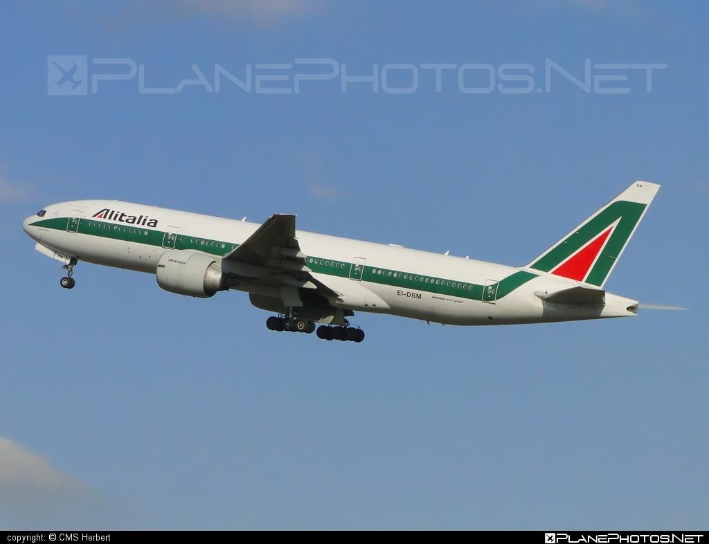 Boeing 777-200ER - EI-DBM operated by Alitalia #alitalia #b777 #b777er #boeing #boeing777 #tripleseven