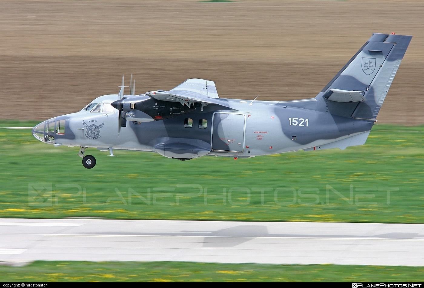 Let L-410FG Turbolet - 1521 operated by Vzdušné sily OS SR (Slovak Air Force) #L410 #L410Turbolet #L410fg #L410fgTurbolet #let #slovakairforce #turbolet #vzdusnesilyossr