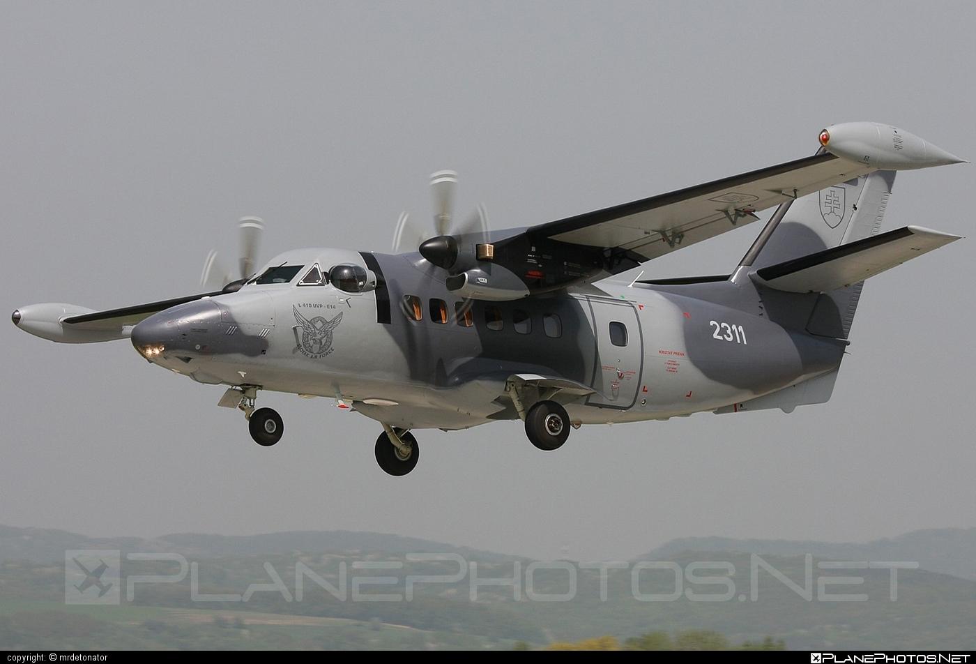 Let L-410UVP-E Turbolet - 2311 operated by Vzdušné sily OS SR (Slovak Air Force) #let #slovakairforce #vzdusnesilyossr