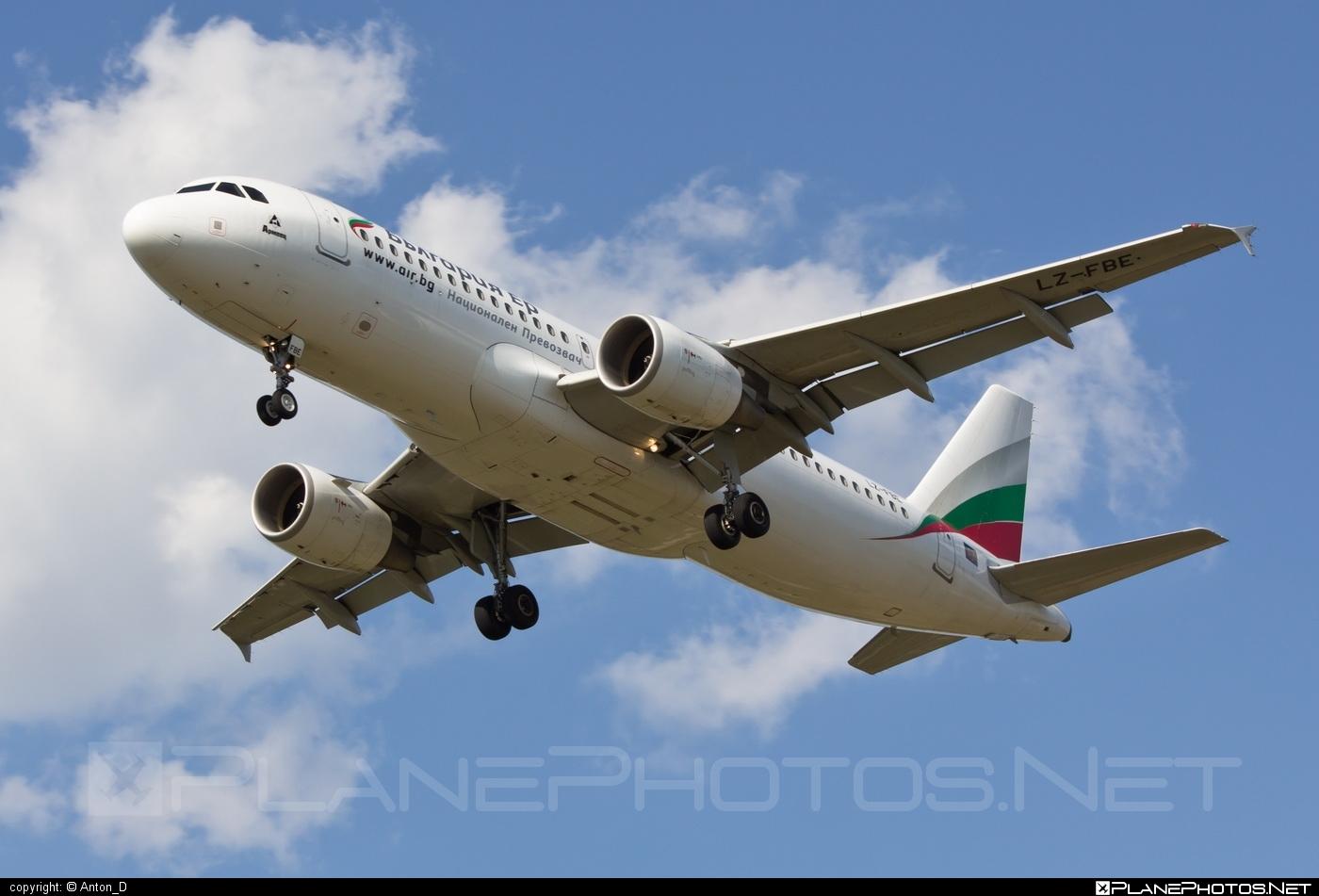 Airbus A320-214 - LZ-FBE operated by Bulgaria Air #a320 #a320family #airbus #airbus320 #bulgariaair