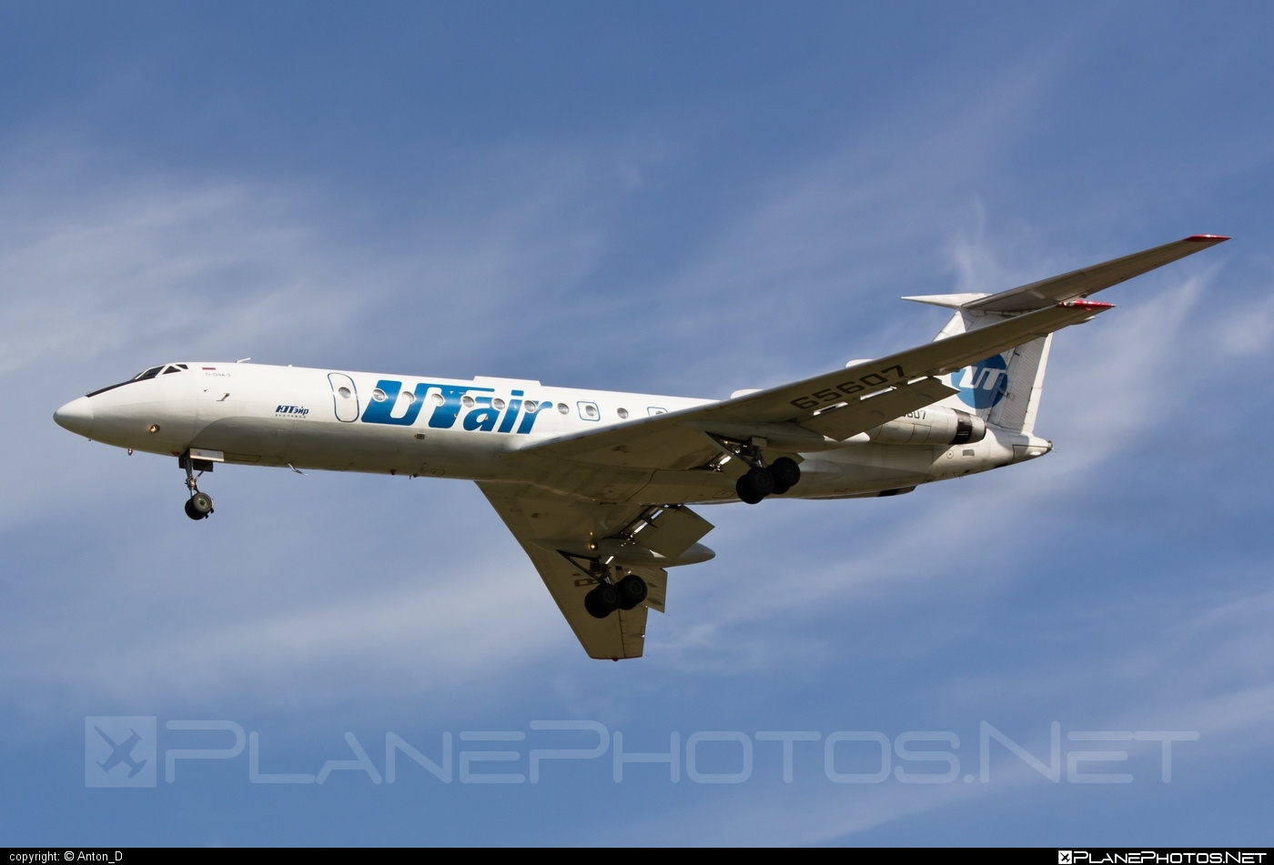 Tupolev Tu-134A-3 - RA-65607 operated by UTair Aviation #tu134 #tu134a3 #tupolev #tupolev134 #tupolevtu134 #tupolevtu134a3 #utair #utairaviation