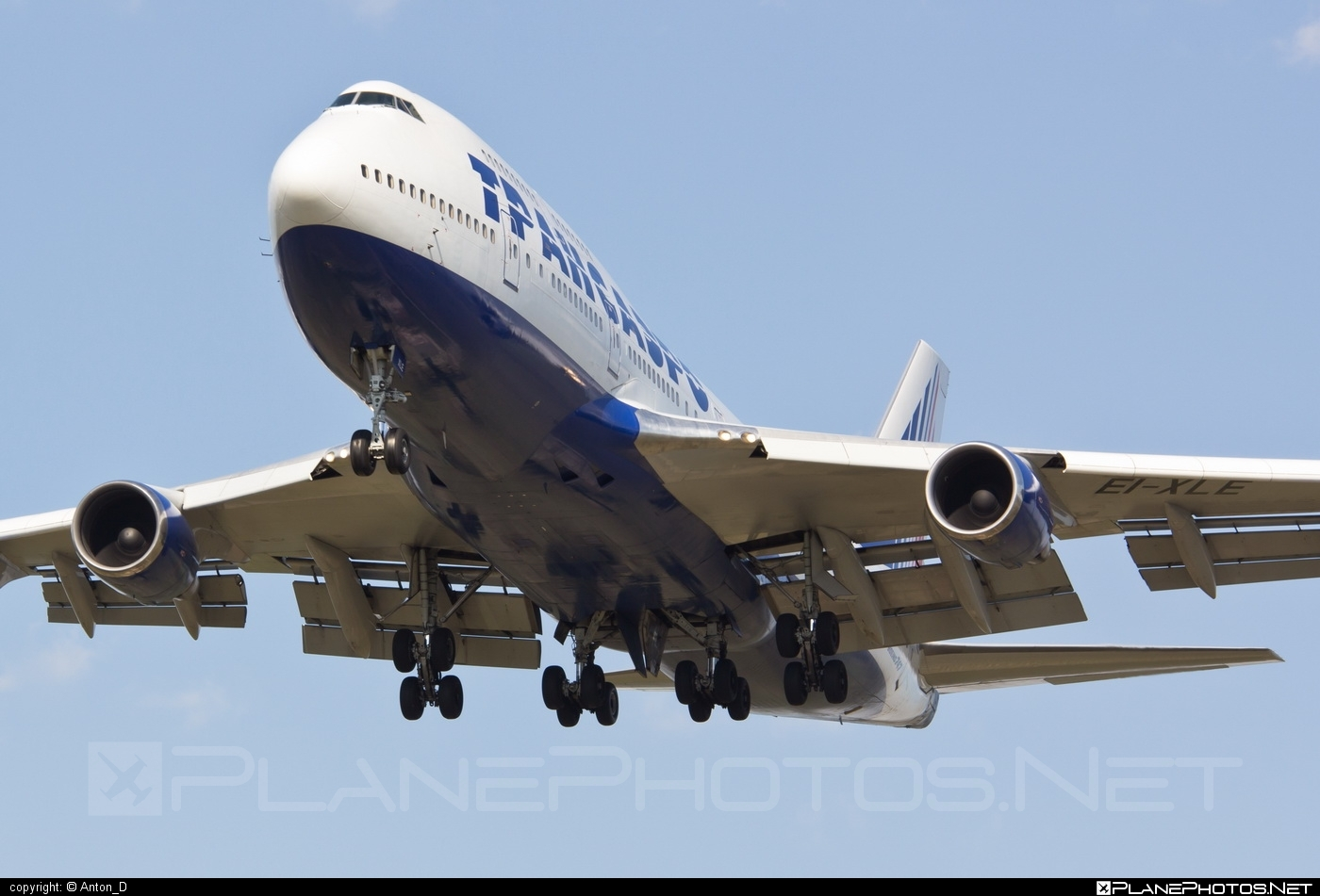 Boeing 747-400 - EI-XLE operated by Transaero Airlines #b747 #boeing #boeing747 #jumbo