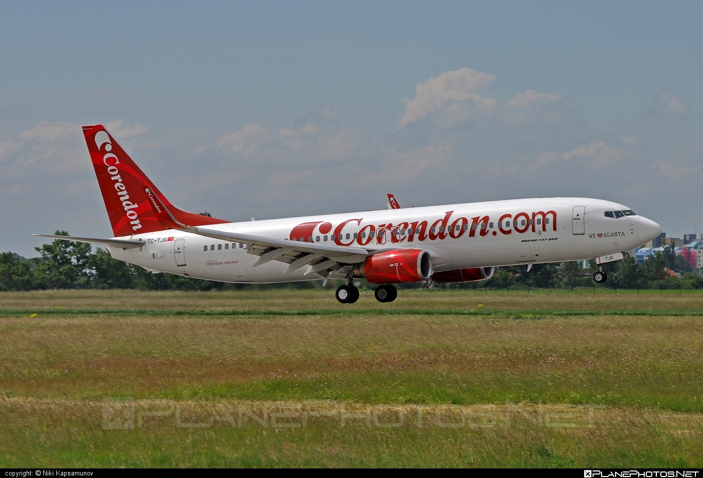 Boeing 737-800 - TC-TJG operated by Corendon Airlines #b737 #b737nextgen #b737ng #boeing #boeing737