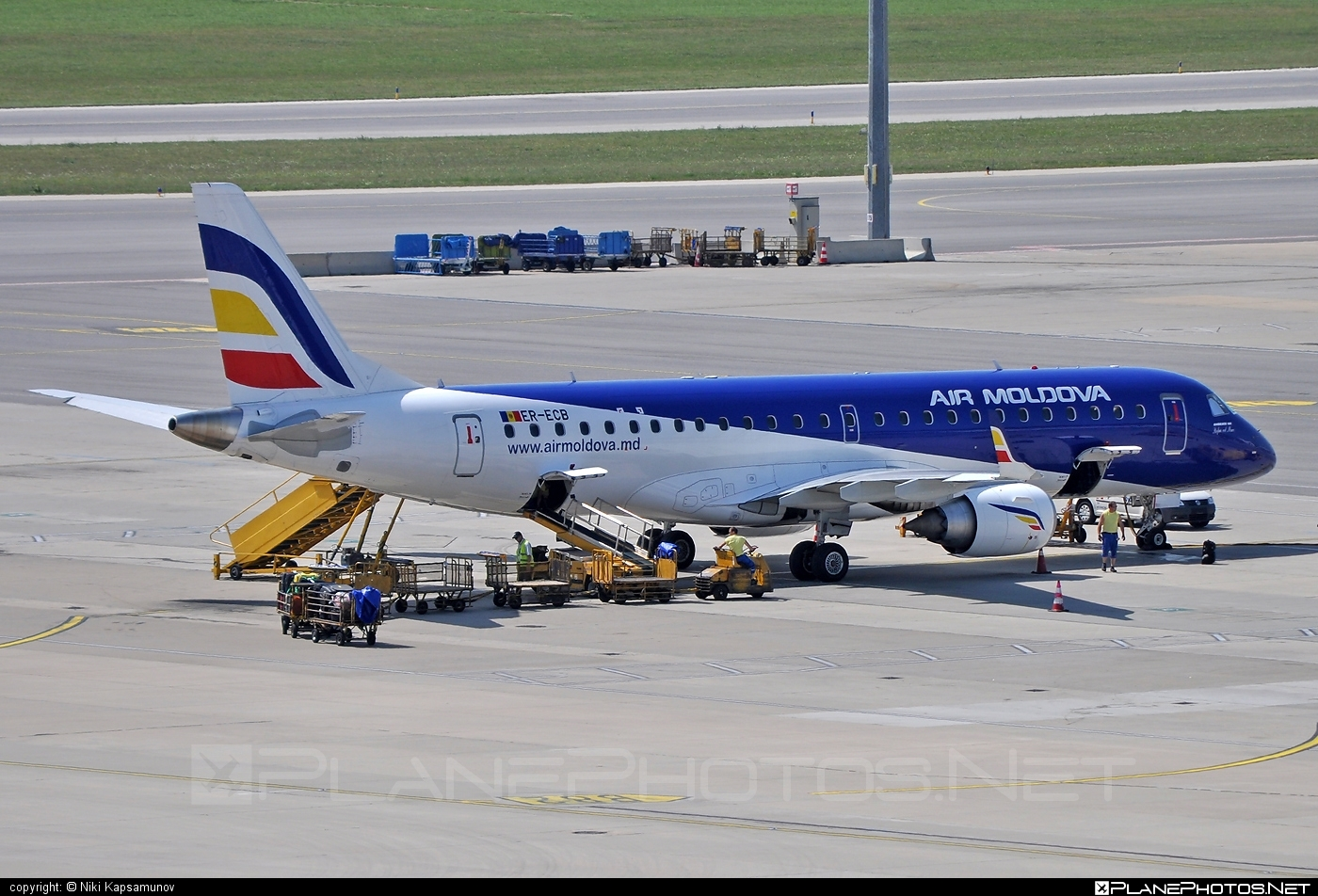 Embraer E190LR (ERJ-190-100LR) - ER-ECB operated by Air Moldova #e190 #e190100 #e190100lr #e190lr #embraer #embraer190 #embraer190100lr #embraer190lr