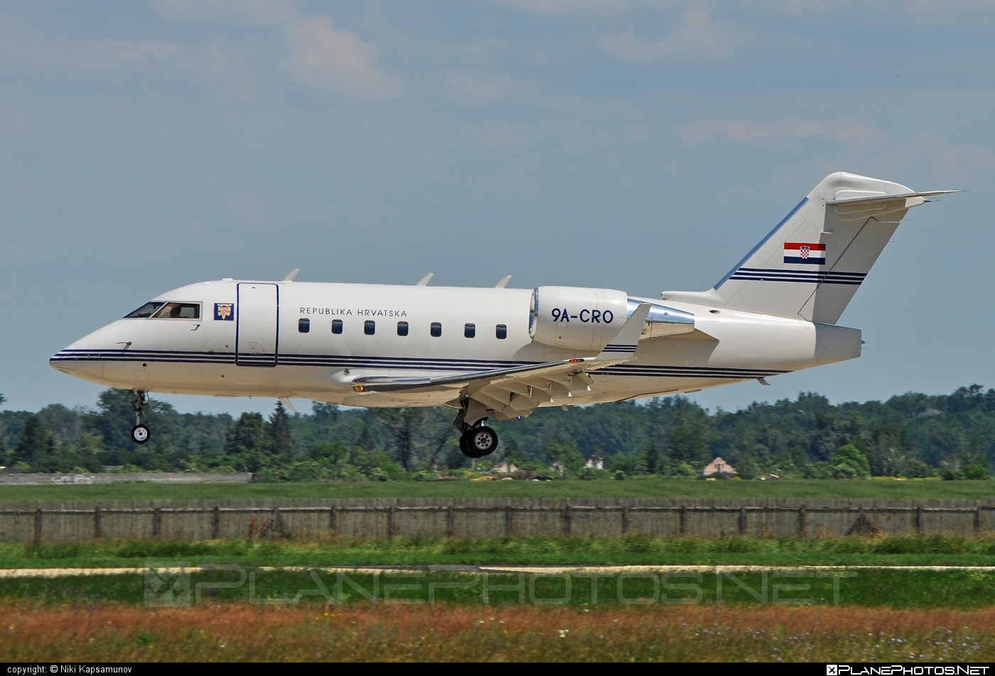 Canadair Challenger 604 (CL-600-2B16) - 9A-CRO operated by Vlada Republike Hrvatske (Croatian Government) #canadair #challenger604 #cl6002b16