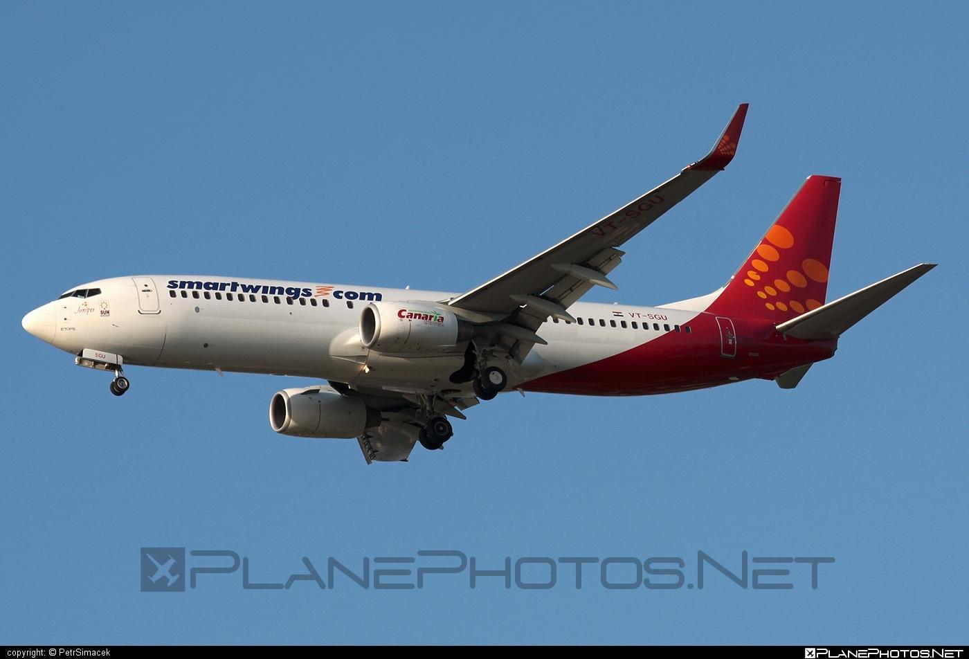 Boeing 737-800 - VT-SGU operated by Smart Wings #b737 #b737nextgen #b737ng #boeing #boeing737 #smartwings