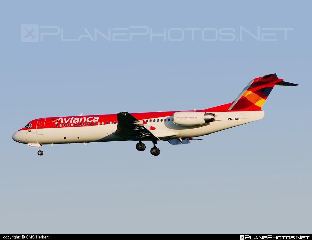 Fokker 100 - PR-OAE operated by Avianca Brasil #avianca #aviancabrasil #fokker