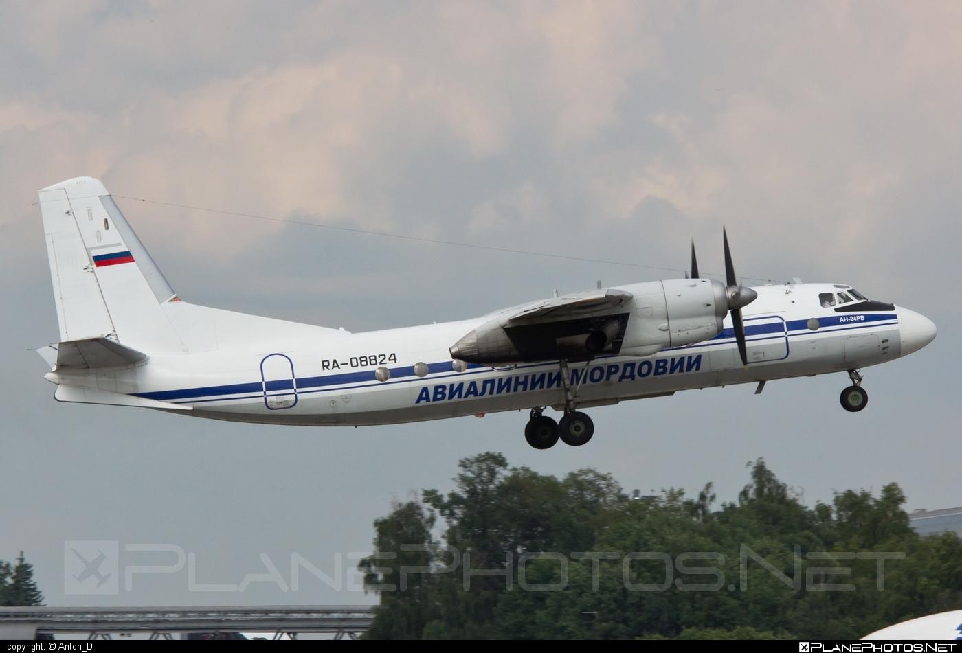 Antonov An-24RV - RA-08824 operated by Mordovia Airlines #an24 #an24rv #antonov #antonov24