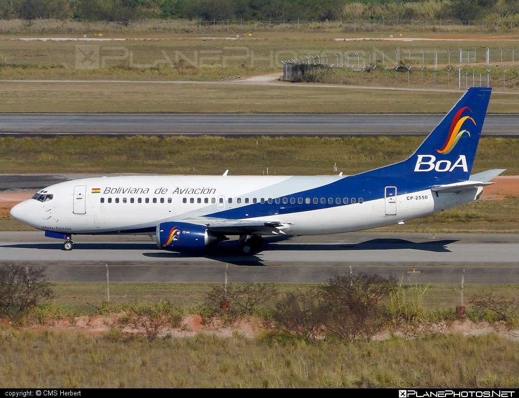 Boeing 737-300 - CP-2550 operated by Boliviana de Aviacion #b737 #boeing #boeing737