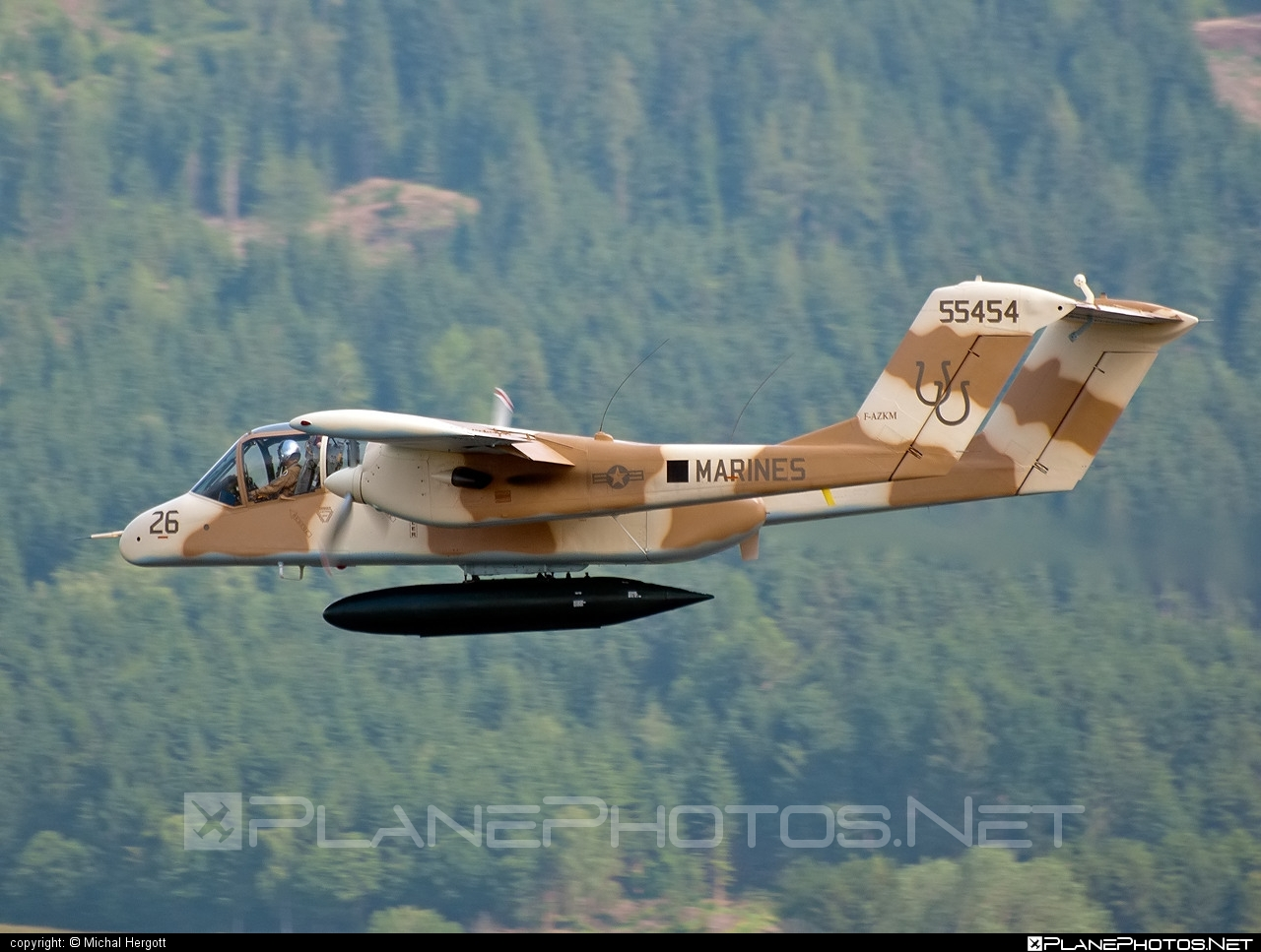 North American Rockwell OV-10B Bronco - F-AZKM operated by Private operator #northamericanrockwell