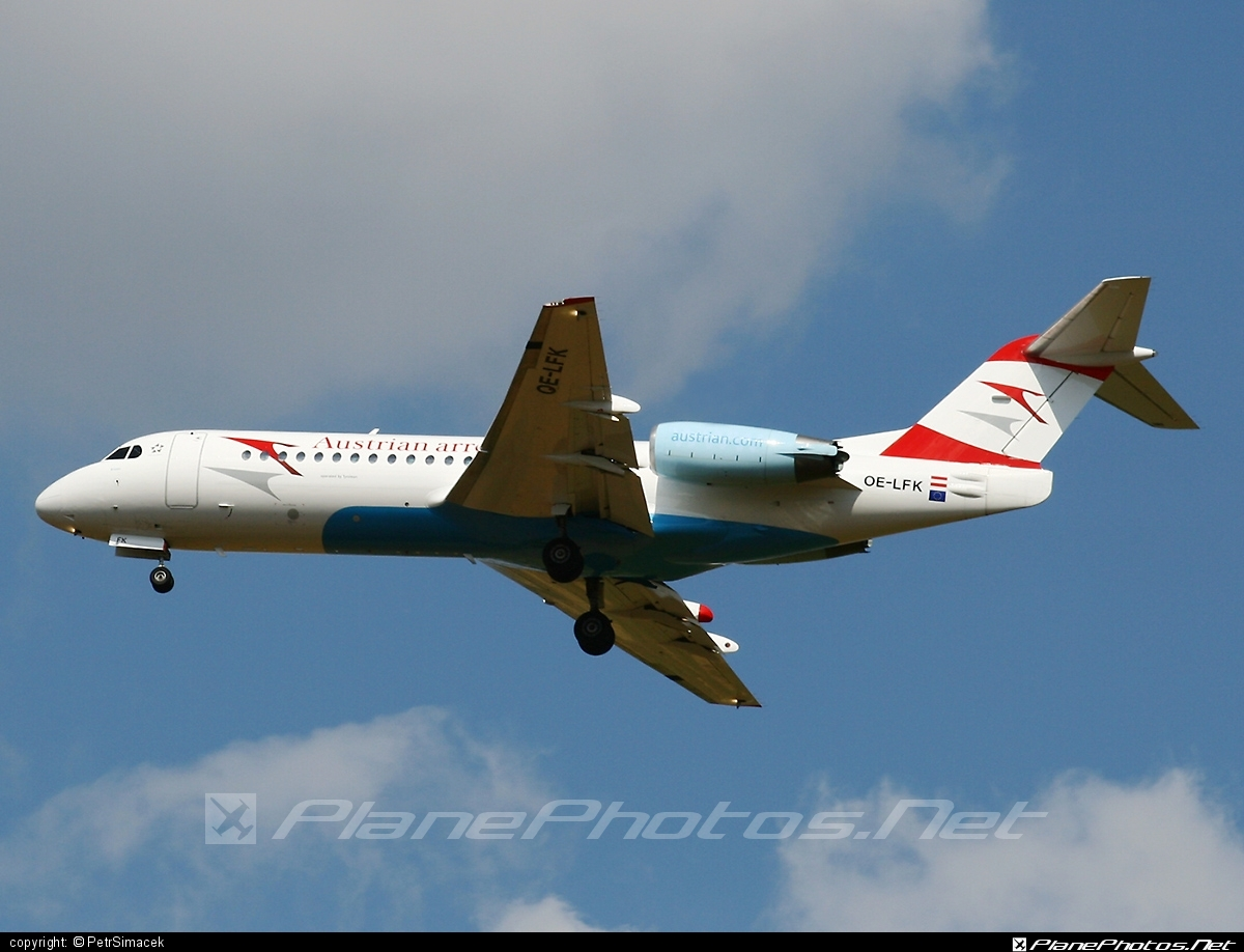 Fokker 70 - OE-LFK operated by Austrian arrows (Tyrolean Airways) #fokker