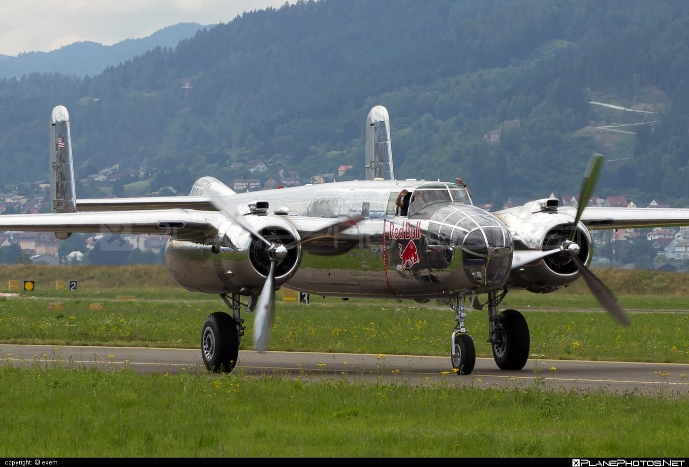 North American B-25J Mitchell - N6123C operated by The Flying Bulls #airpower #airpower2013 #b25 #b25j #b25mitchell #northamerican #theflyingbulls