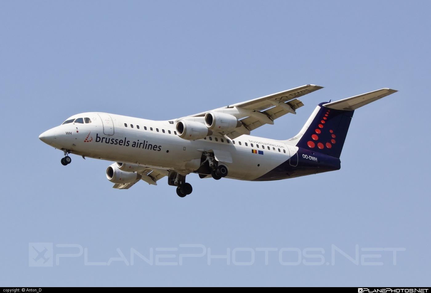 British Aerospace Avro RJ100 - OO-DWH operated by Brussels Airlines #avro146rj100 #avrorj100 #bae146 #britishaerospace #brusselsairlines