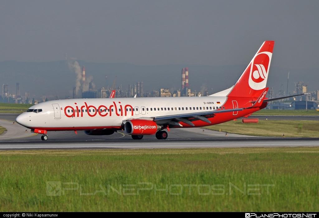 Boeing 737-800 - D-ABKN operated by Air Berlin #airberlin #b737 #b737nextgen #b737ng #boeing #boeing737
