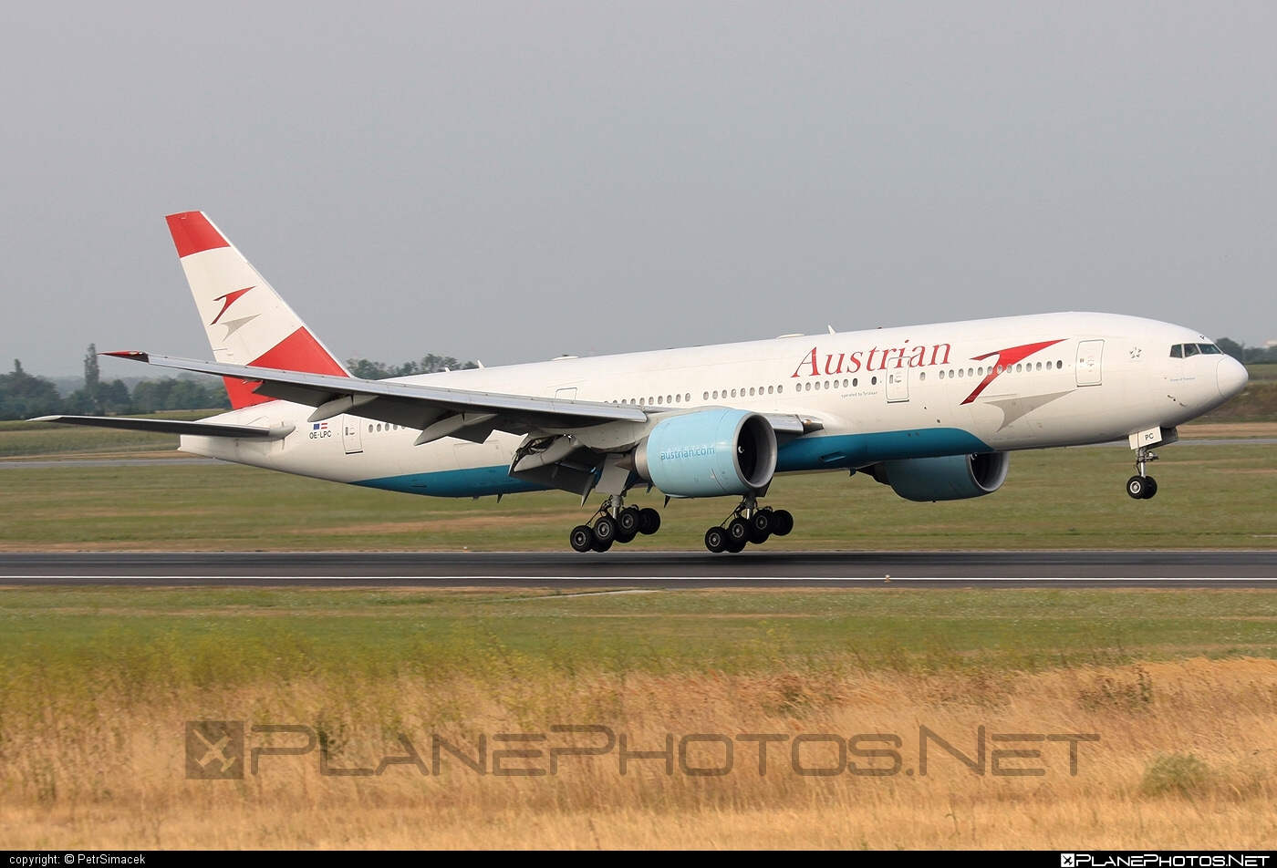Boeing 777-200ER - OE-LPC operated by Austrian Airlines #b777 #b777er #boeing #boeing777 #tripleseven