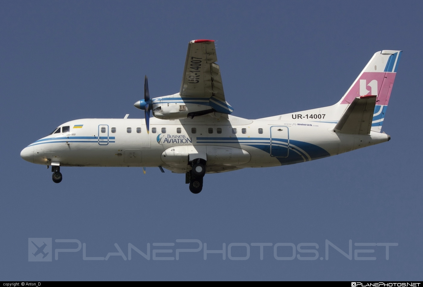 Antonov An-140-100 - UR-14007 operated by Motor Sich Airline #an140 #an140100 #antonov #antonov140