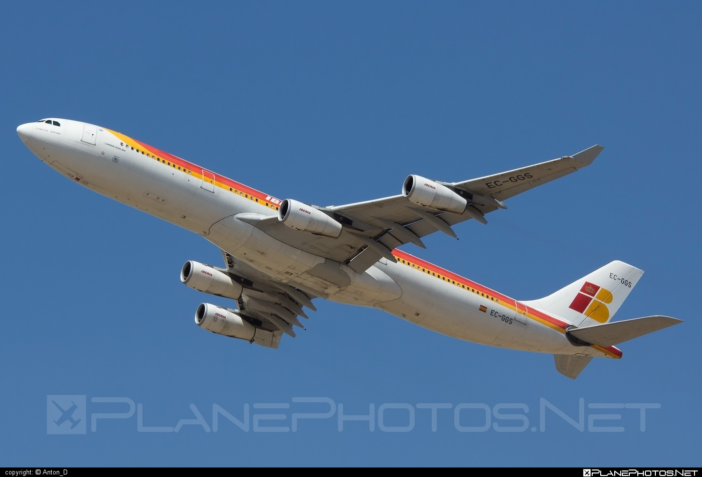 Airbus A340-313 - EC-GGS operated by Iberia #a340 #a340family #airbus #airbus340 #iberia