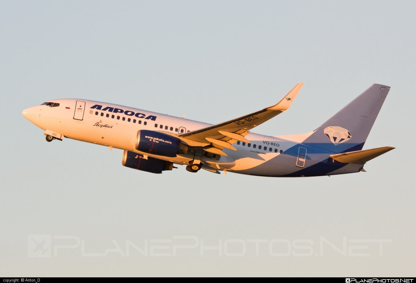 Boeing 737-700 - VQ-BEO operated by Alrosa-Avia #b737 #b737nextgen #b737ng #boeing #boeing737