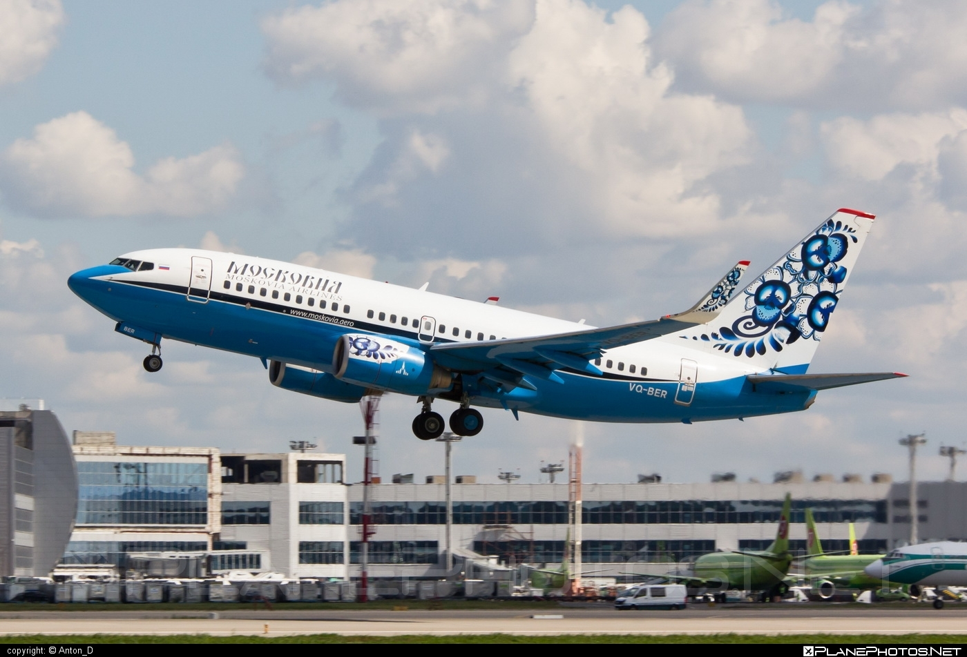 Boeing 737-700 - VQ-BER operated by Moskovia Airlines #b737 #b737nextgen #b737ng #boeing #boeing737