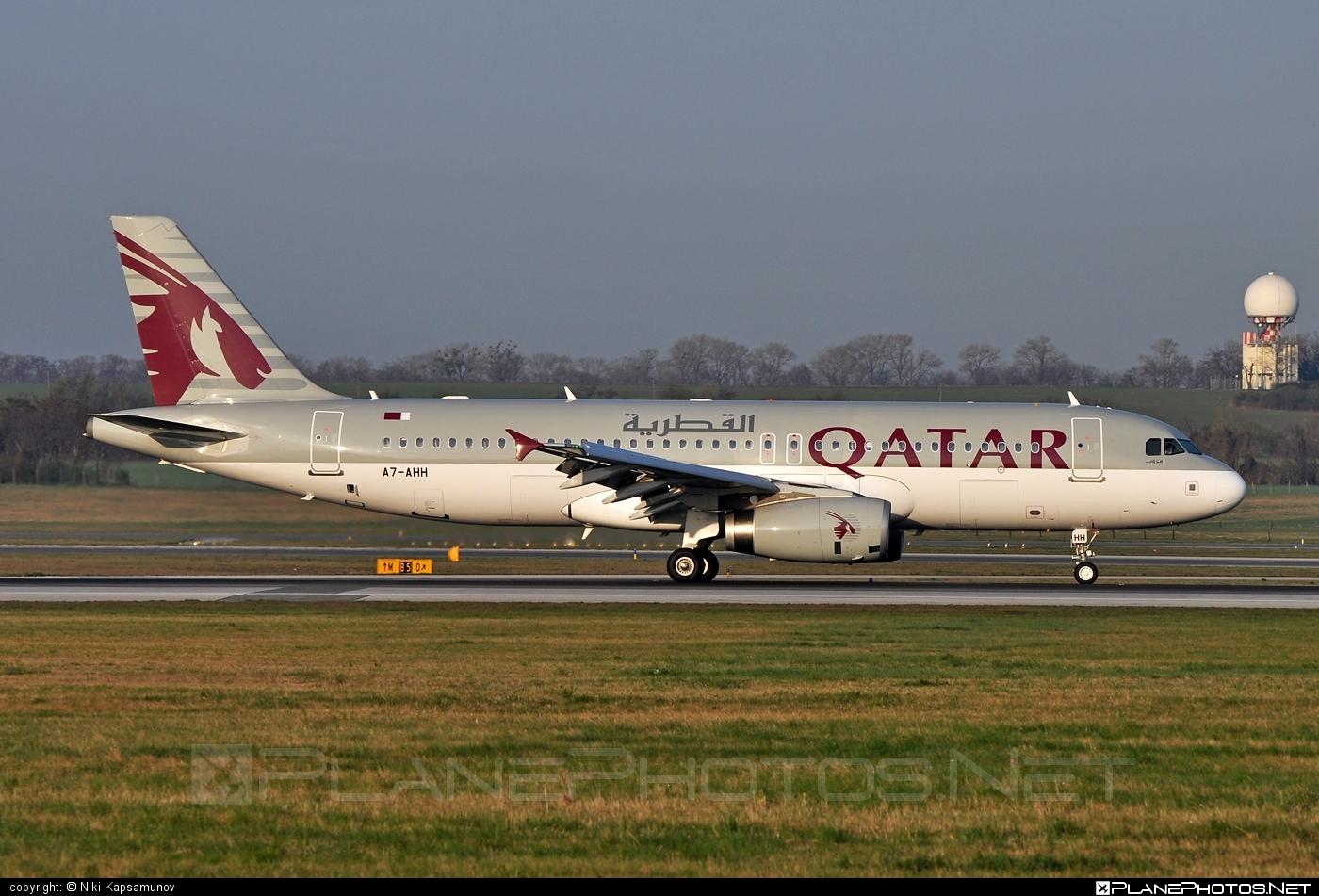 Airbus A320-232 - A7-AHH operated by Qatar Airways #a320 #a320family #airbus #airbus320 #qatarairways