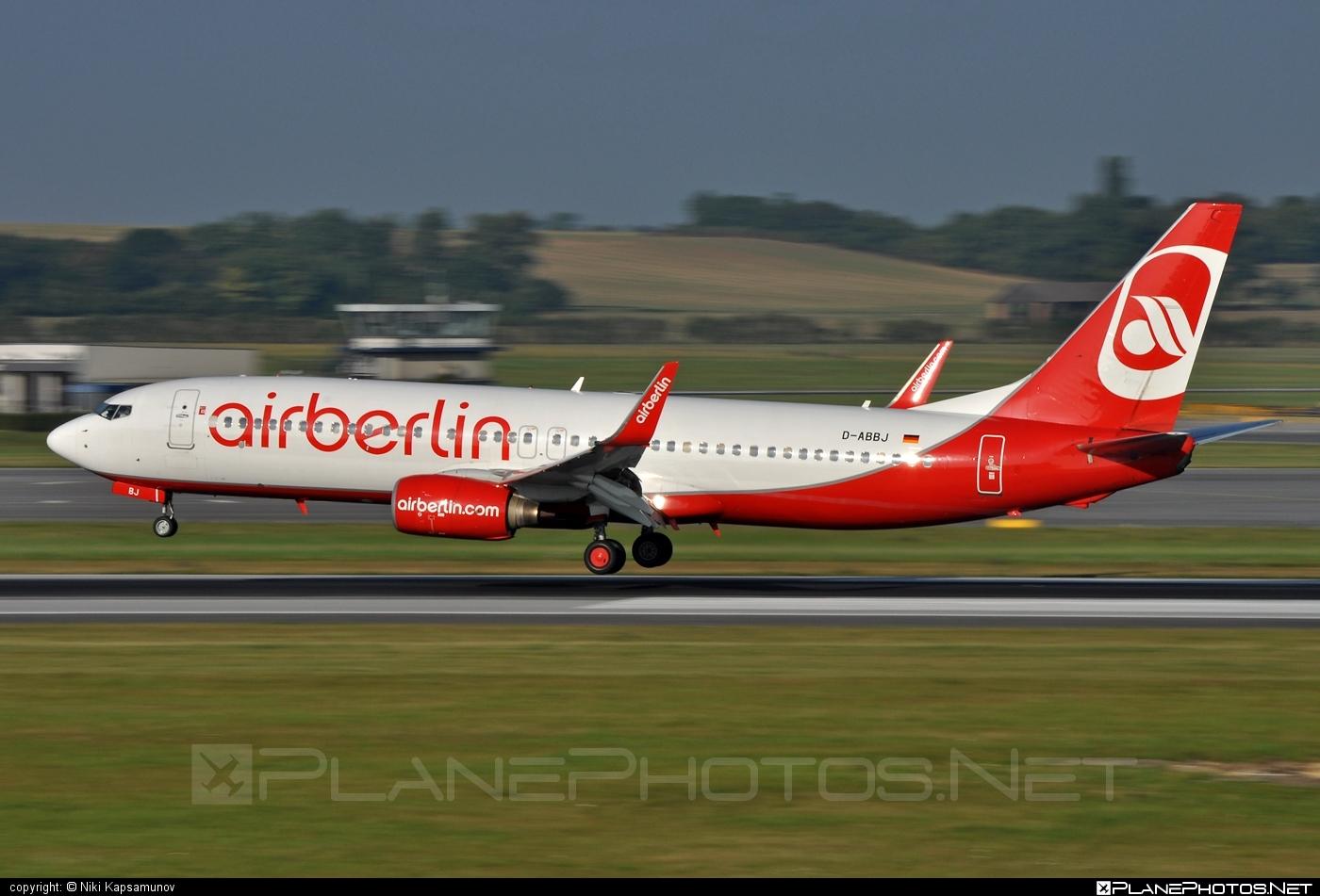 Boeing 737-800 - D-ABBJ operated by Air Berlin #airberlin #b737 #b737nextgen #b737ng #boeing #boeing737