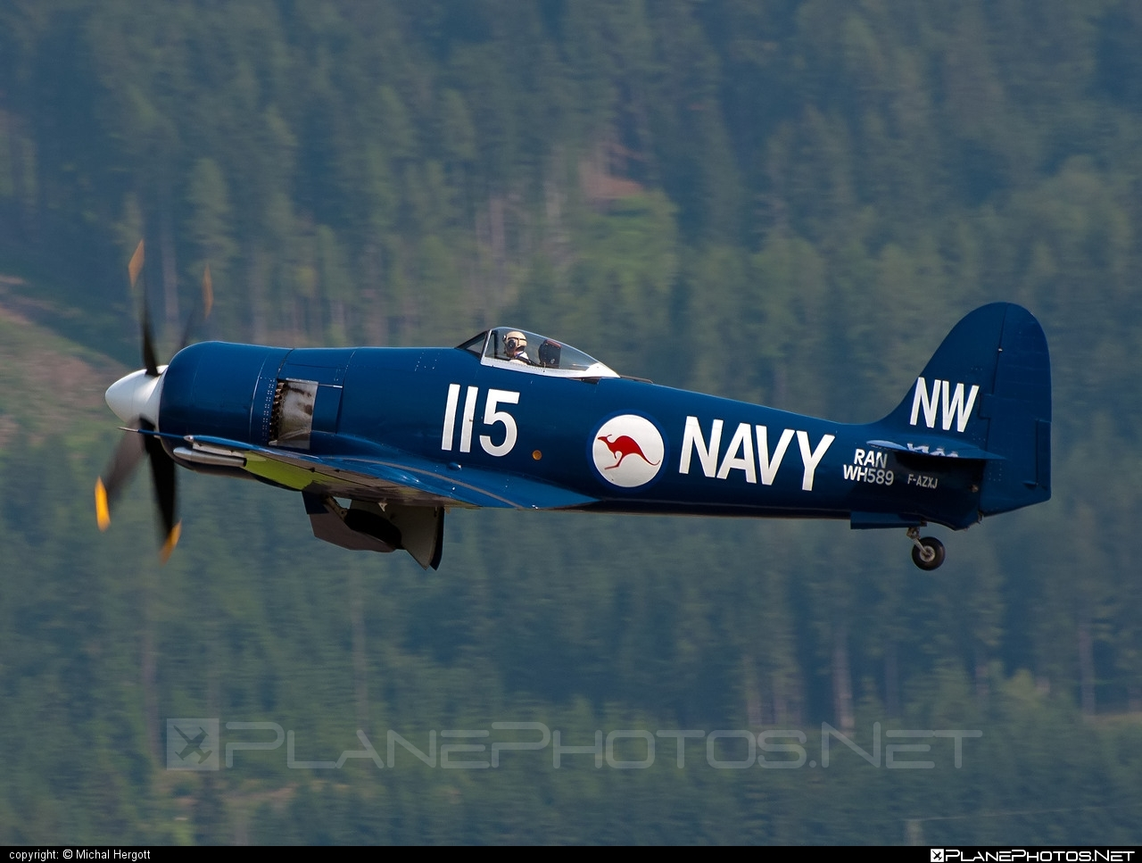 Hawker Sea Fury FB.11 - F-AZXJ operated by Private operator #hawker
