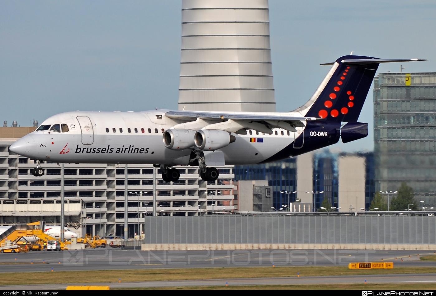 British Aerospace Avro RJ100 - OO-DWK operated by Brussels Airlines #avro146rj100 #avrorj100 #bae146 #britishaerospace #brusselsairlines