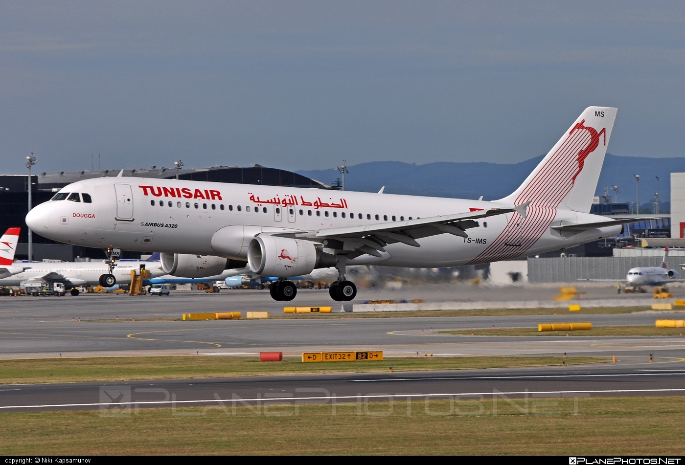 Airbus A320-214 - TS-IMS operated by Tunisair #a320 #a320family #airbus #airbus320 #tunisair