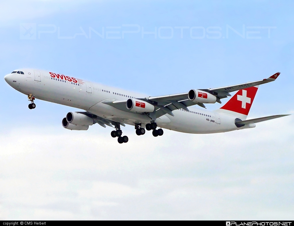 Airbus A340-313 - HB-JMM operated by Swiss International Air Lines #a340 #a340family #airbus #airbus340 #swiss #swissairlines