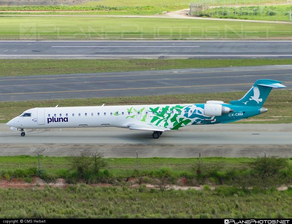 Bombardier CRJ900LR - CX-CRM operated by PLUNA #bombardier #crj900 #crj900lr