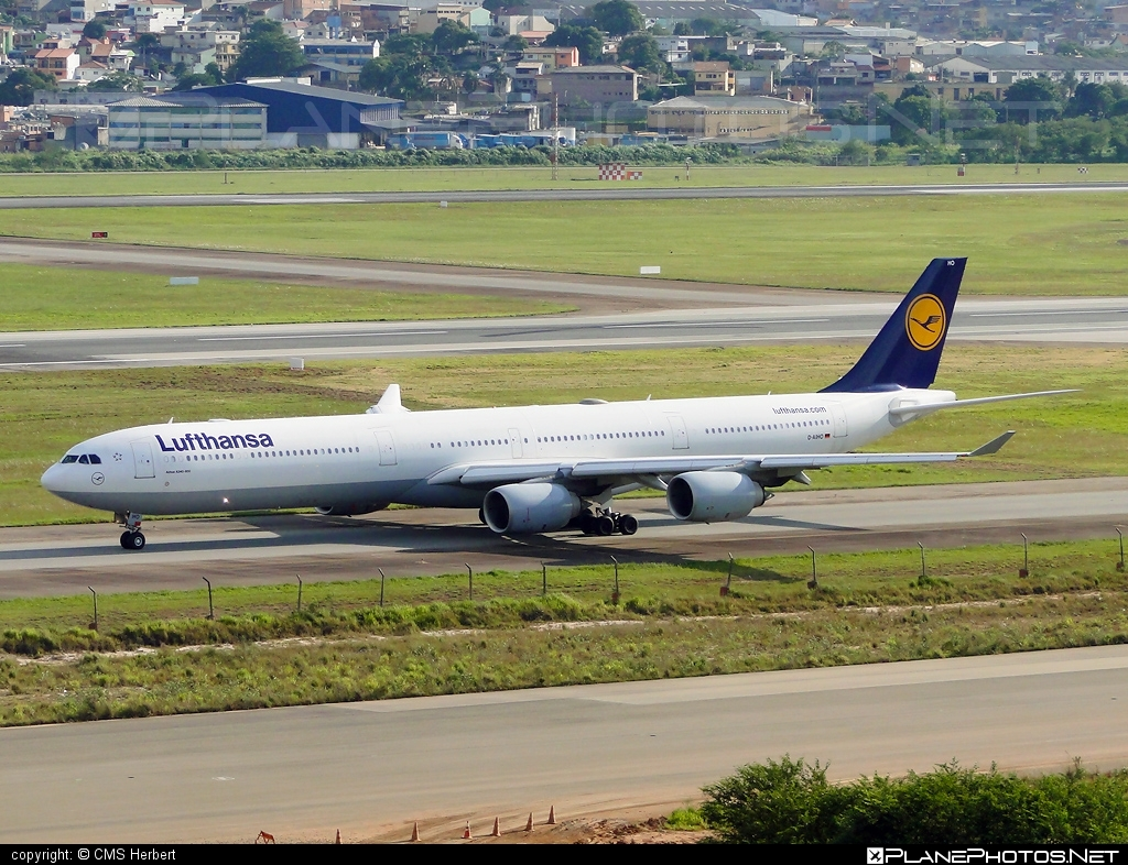 Airbus A340-642 - D-AIHO operated by Lufthansa #a340 #a340family #airbus #airbus340 #lufthansa