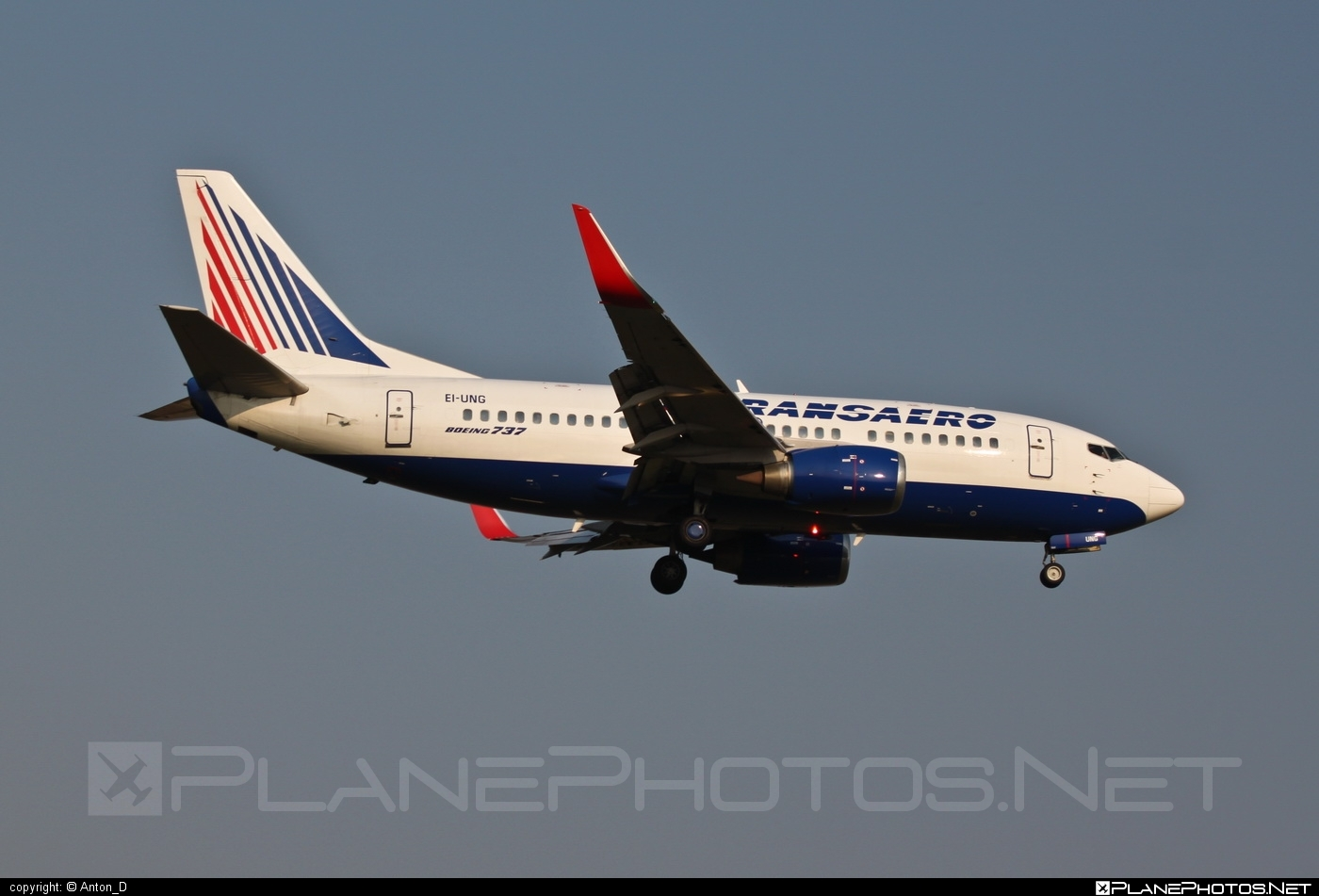 Boeing 737-500 - EI-UNG operated by Transaero Airlines #b737 #boeing #boeing737